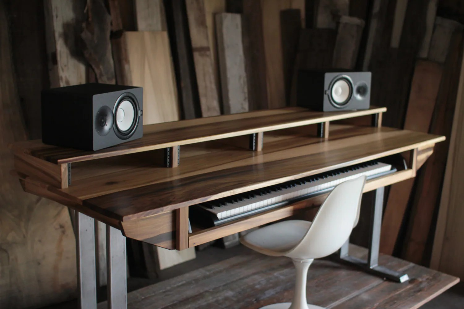 Recording Studio Chair Large Modern Wood Recording Studio Desk For Composer