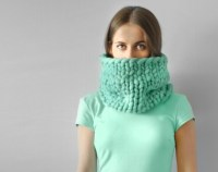 Piccolo punto. Infinite scarf. Cowl. Snood. Chunky scarf.