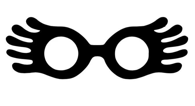 graphic about Luna Lovegood Glasses Printable referred to as 20+ Luna Harry Potter Clip Artwork Programs and Models