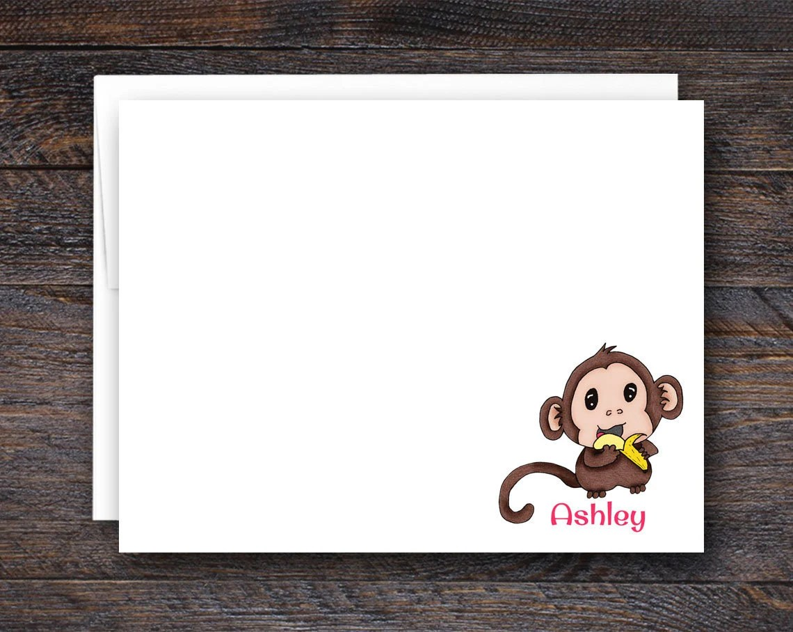 Monkey Note Cards - Flat ...