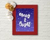 Merry and Bright, Printab...