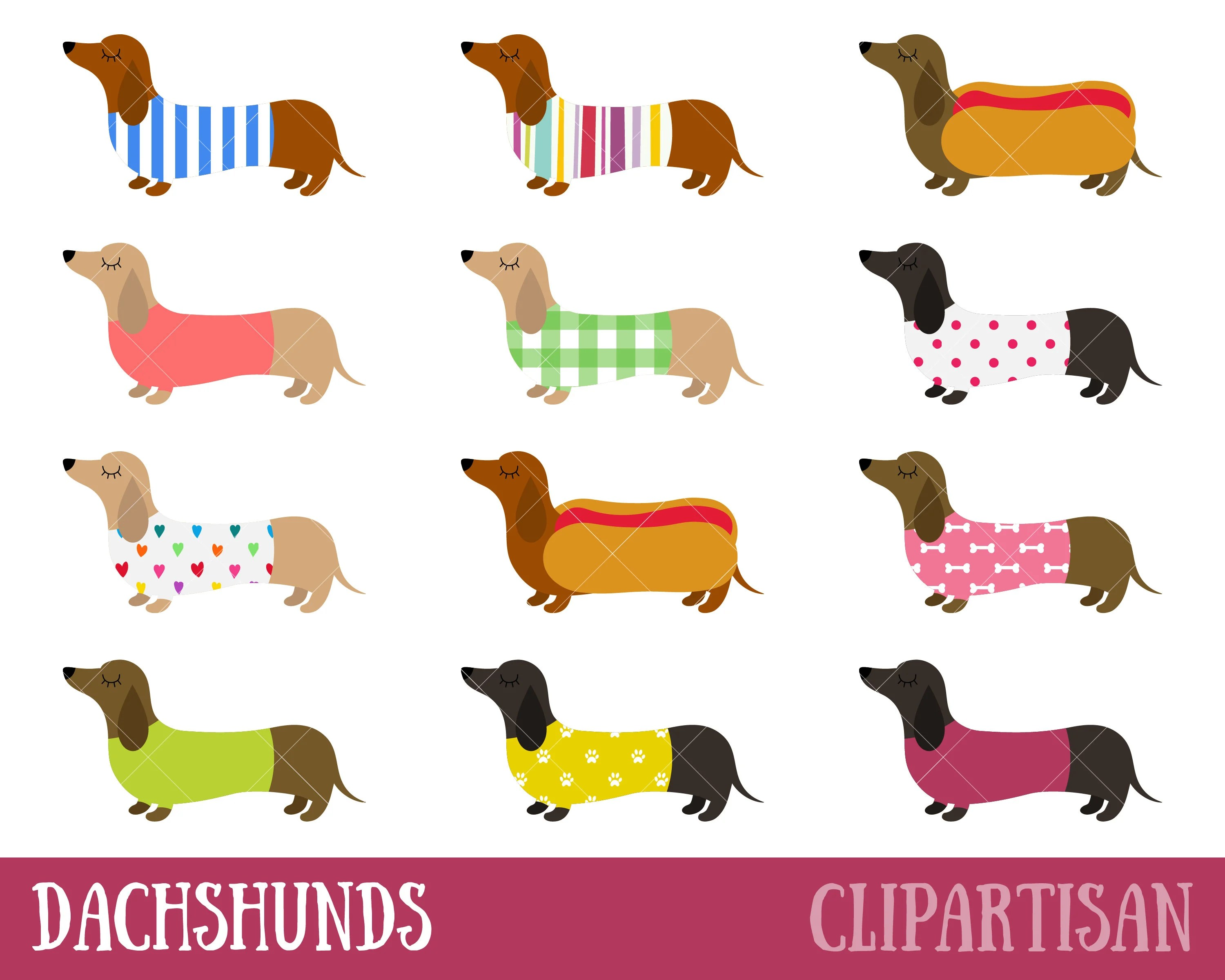 dachshunds clipart sausage dogs
