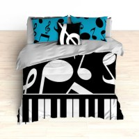 Funky Piano Bedding Sets - Fall Asleep While You're ...