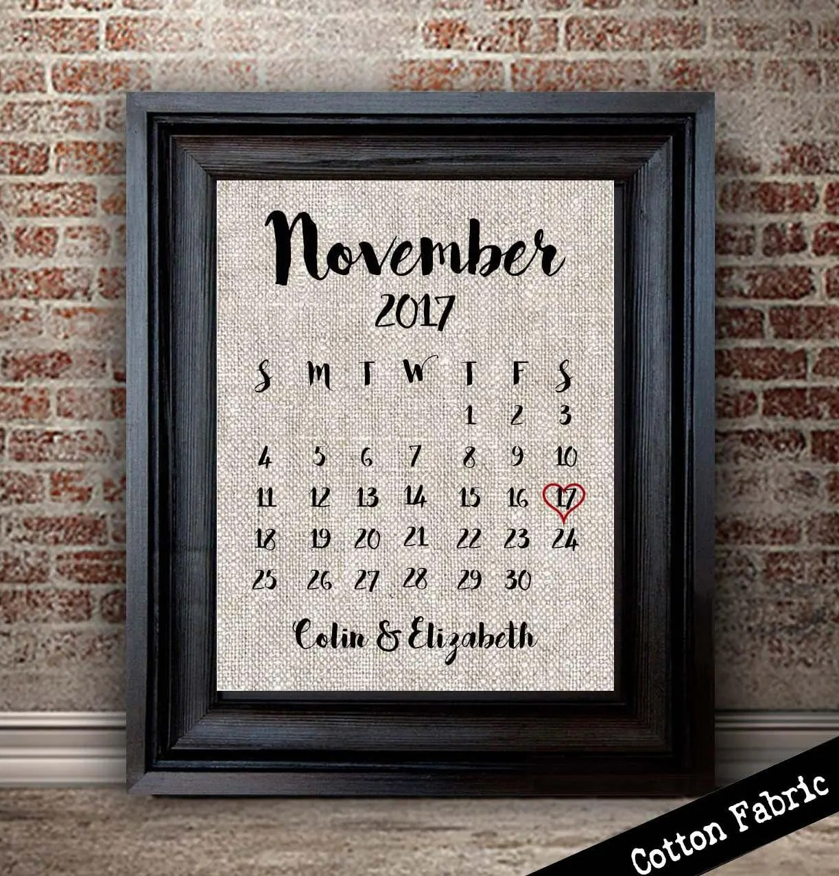 Cotton Anniversary Gift For Her Personalized Cotton Calendar