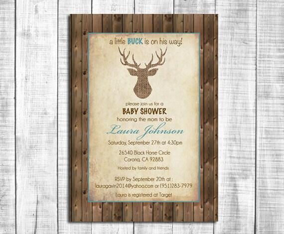 Rustic Wood Invitations