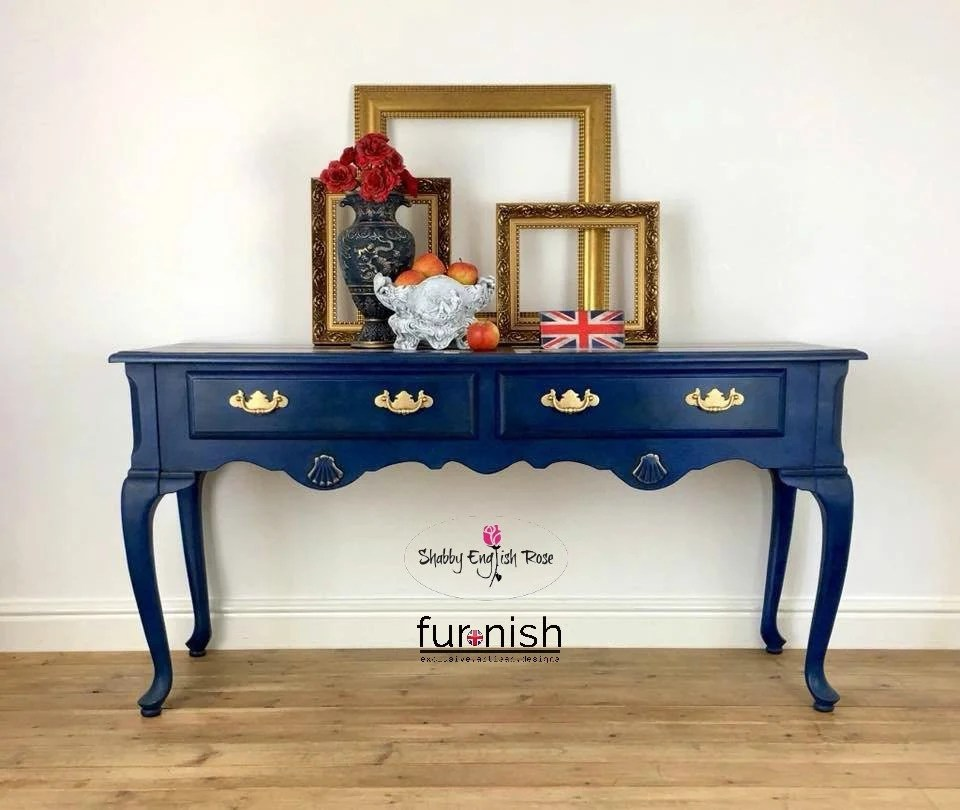 painted queen anne sofa table homcom folding convertible single sleeper bed navy blue union jack sideboard console hall