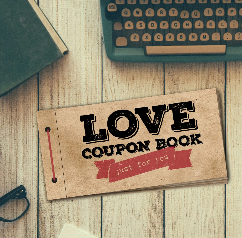 Love Coupon Book For Him PRINTABLE DIY Gift Digital PDF