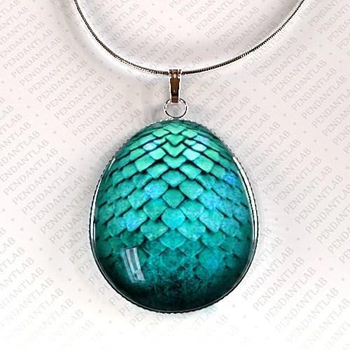 Turquoise Dragon Egg Pendant Dragon Necklace Dragon Egg
