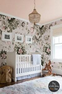 Roses Floral Pastel wall mural Pale Vintage wallpaper