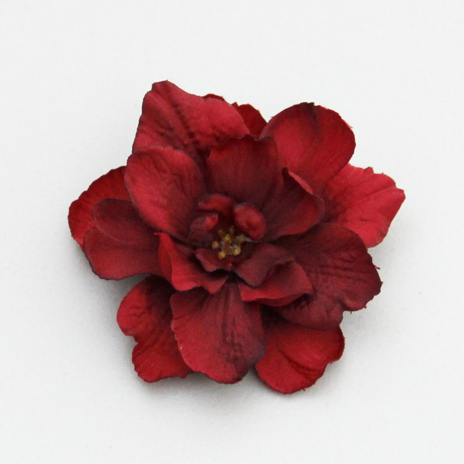 small red flower hair clip 1 piece