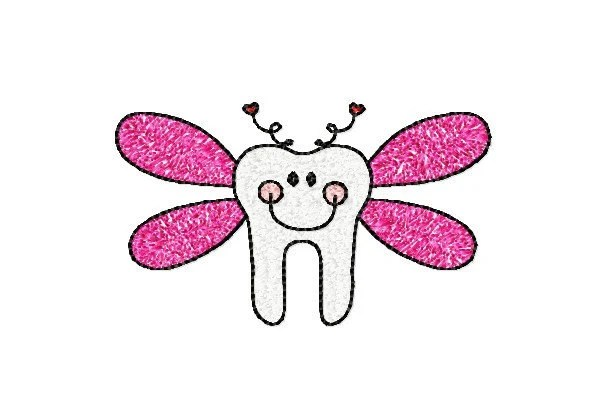 4x4 hoop TOOTH FAIRY Machine Embroidery Design File, digital download