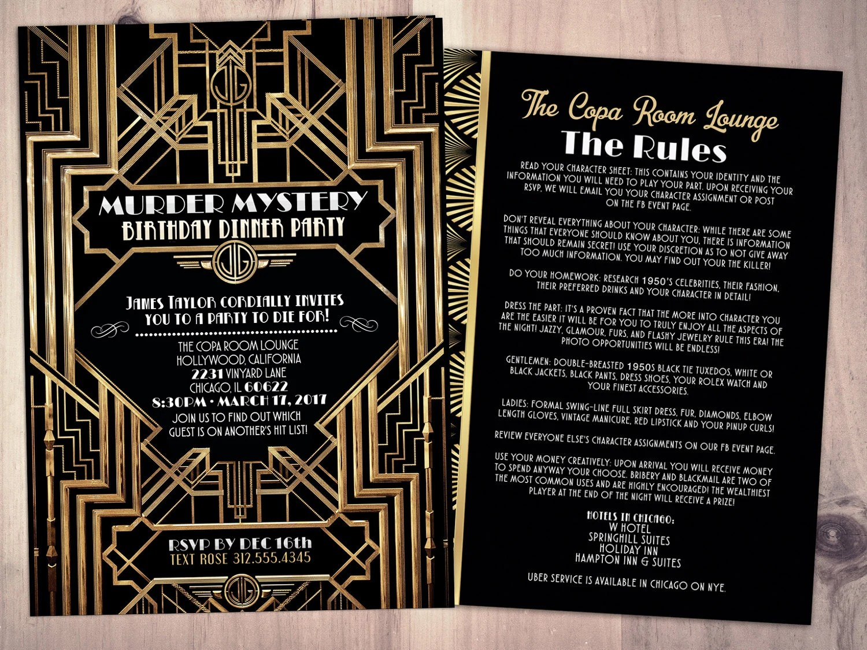 Free Printable 1920s Invitations