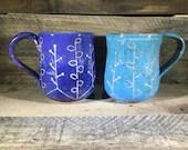 Carved Ceramic Mug / Teac...