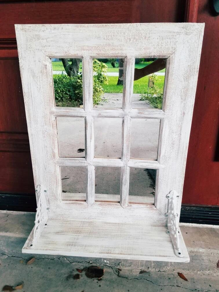 Fall Sale Rustic Farmhouse Window Mirror  Window Pane Mirror