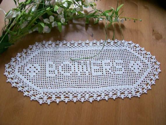 Crochet Name Doily Anniversary Gift Wedding Gift Ideas