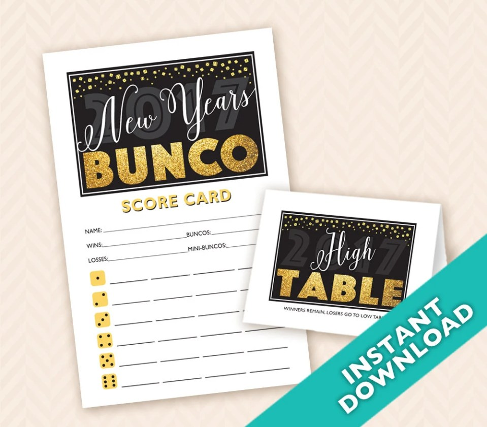 2018 New Years Bunco - Pr...