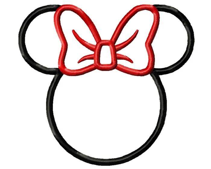 5 Sizes Minnie Mouse Applique Design Disney Design Minnie