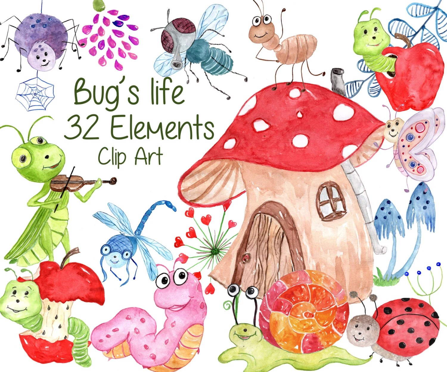 bugs clipart insects clip art ladybug