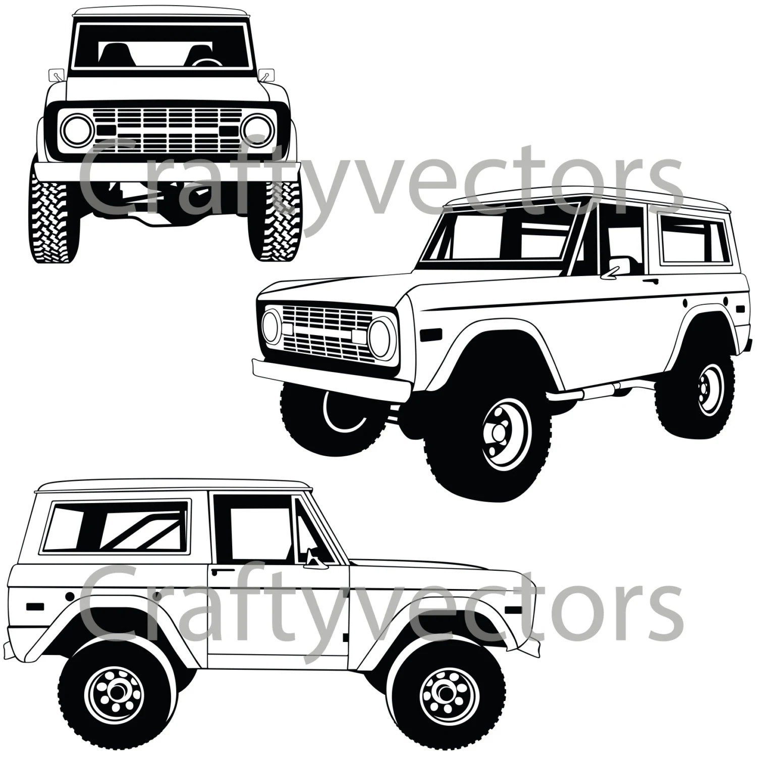 Ford Bronco Vector File