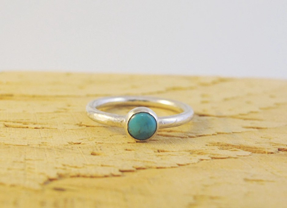 Turquoise ring sterling s...