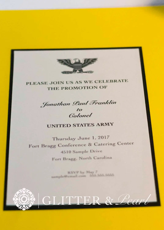Military Promotion Invitations Custom Invitation