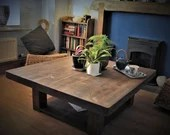 large square coffee table...