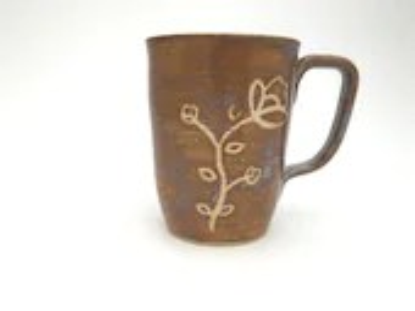 Mug - Wax Resist Flowers ...