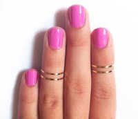 4 Thin Knuckle Rings Gold Knuckle Rings Gold thin midi