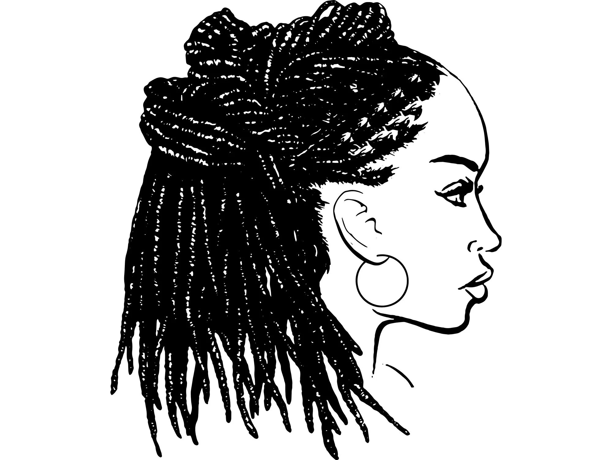black woman dreads nubian princess