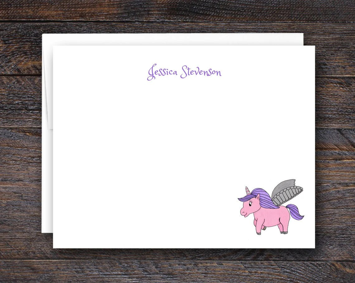Personalized Unicorn Note...