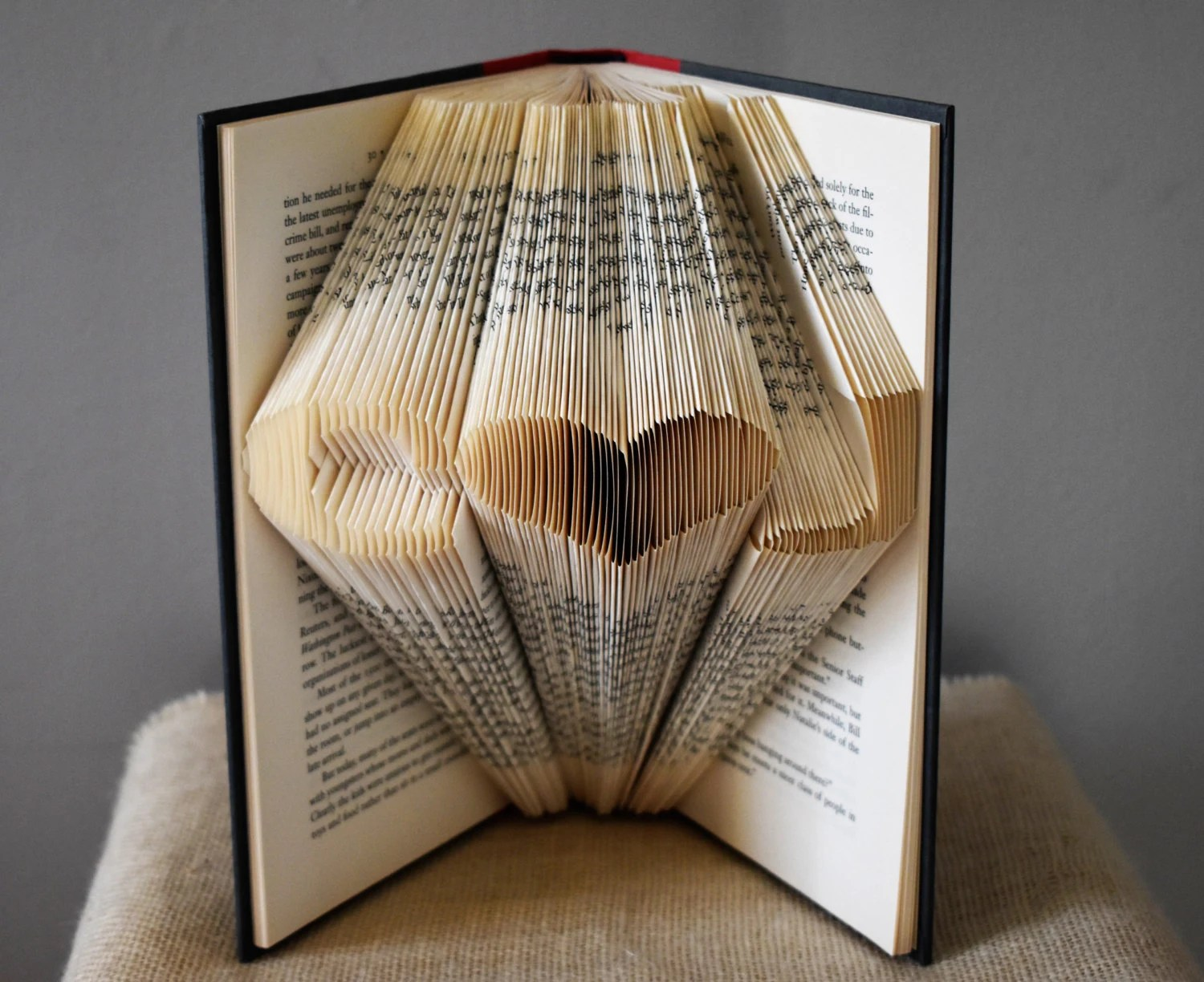 Folded Book Art Gifts For Book Lovers Read Altered Book