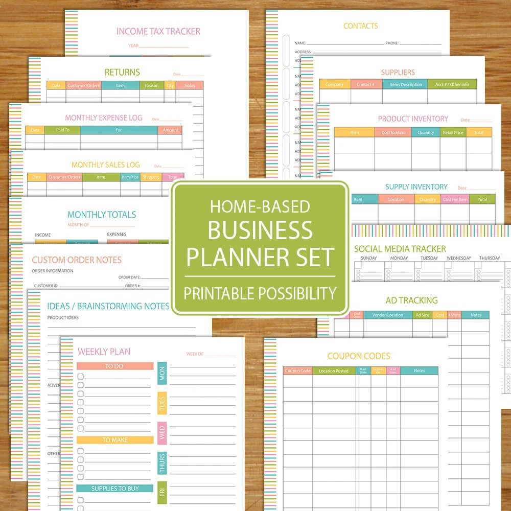 Small Business Planner Home Business Planner Etsy Business