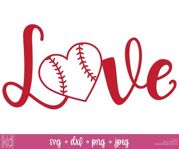Download 2 Baseball Heart svg - Softball Heart svg - Love Baseball ...