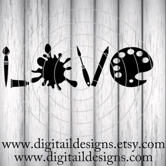 Download Artist Love SVG png dxf eps fcm ai Cut File for
