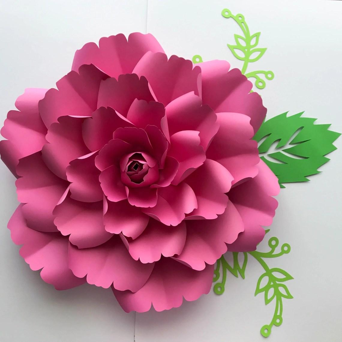 Download SVG Petal 137 Paper Flower template with Center Digital