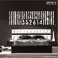 Wall decal PERSONALIZED OVERSIZED BARCODE Vinyl art decor
