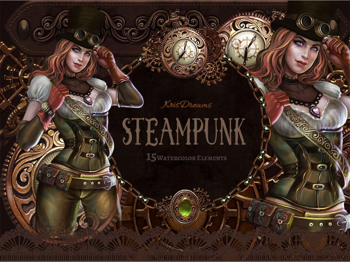 Steampunk Clip Art Victorian Clipart Cosplay