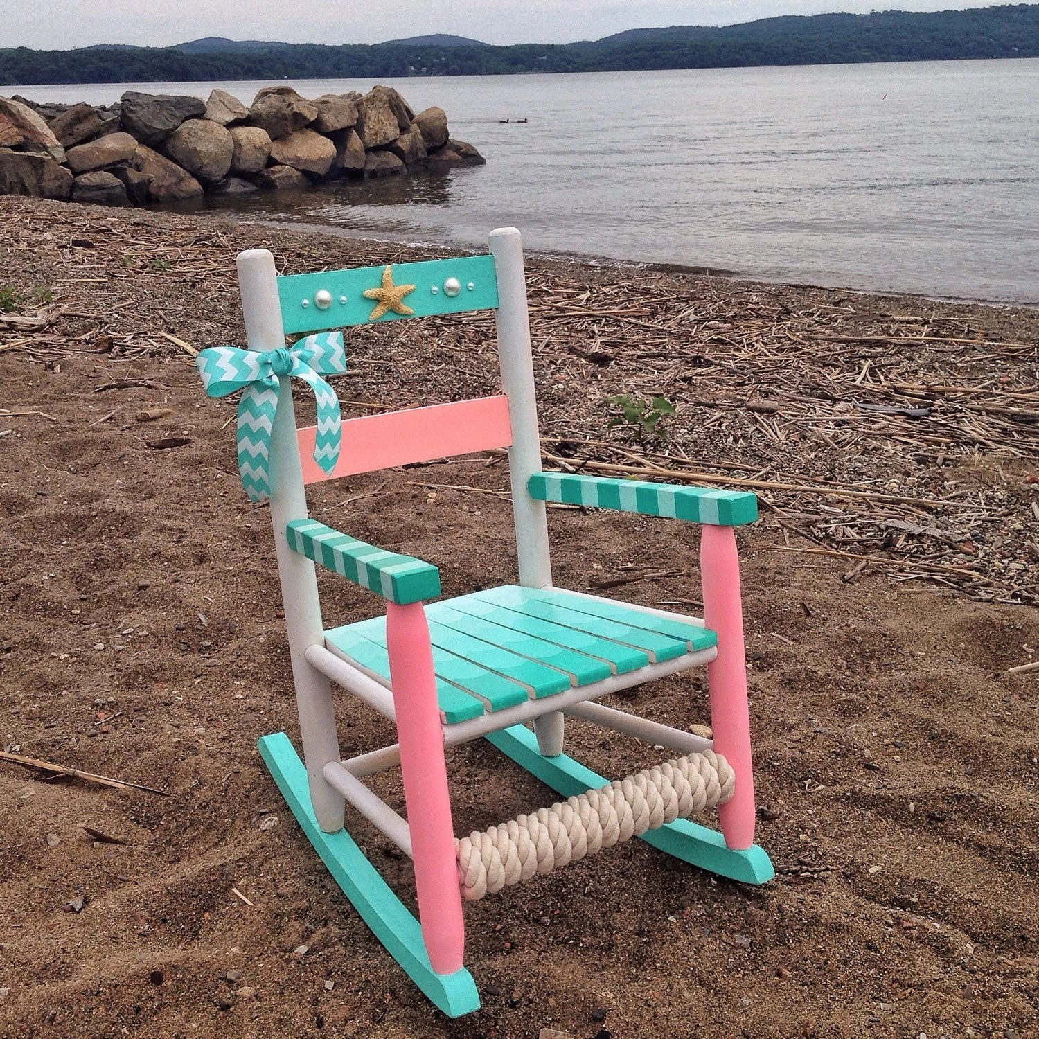 little rocking chairs for toddlers tennis umpire chair plans hand painted kids nautical