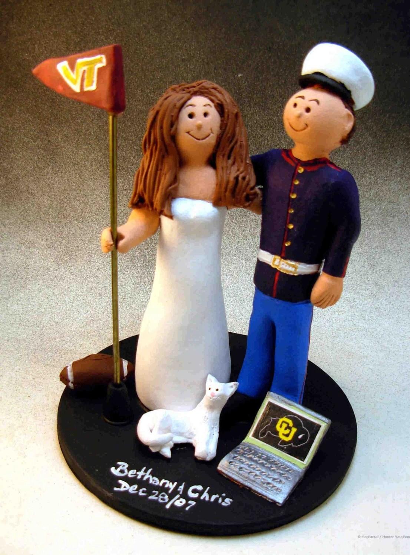 U. Marine Wedding Cake Topper Soldier'