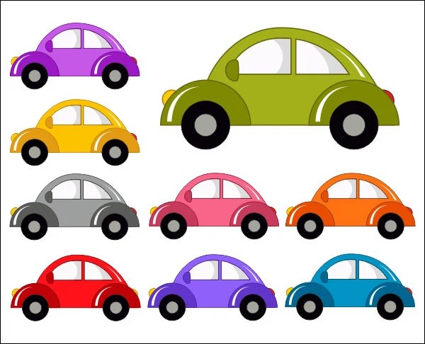 cute cars digital clip art funny