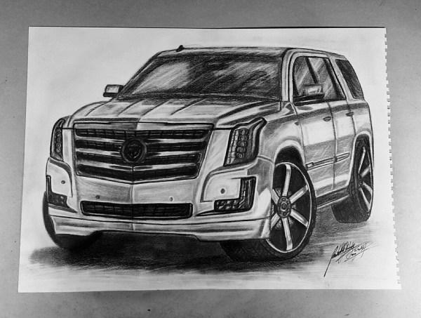 Cadillac Escalade Car Drawing