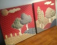 Fabric wall art   Etsy