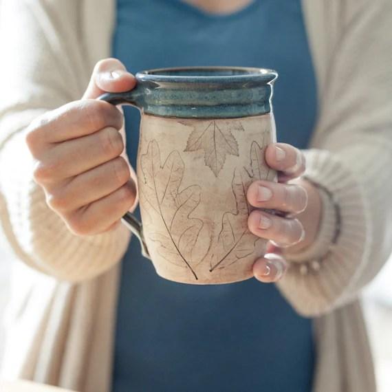 Coffee Lover Pottery Mug Handmade Mug Gift For Her Gift