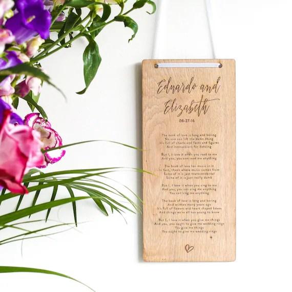 Hochzeit Jahrestag Geschenk Holz Jahrestag Geschenk
