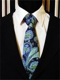 Navy Necktie, Navy Tie, Blue Necktie, Blue Tie, Green ...