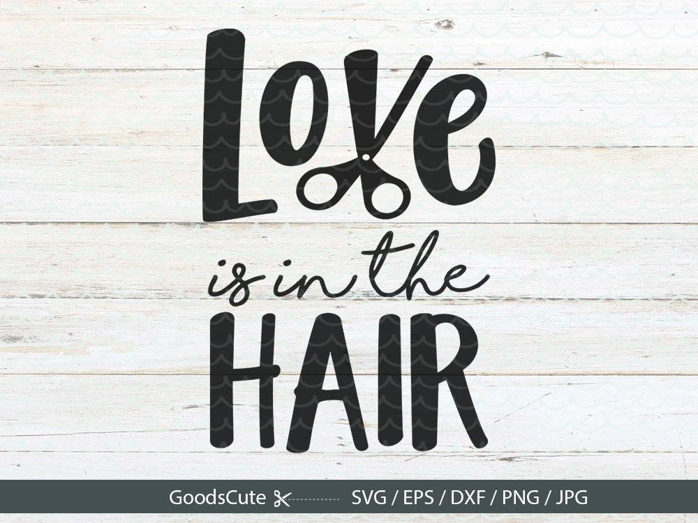 love in hair svg stylist