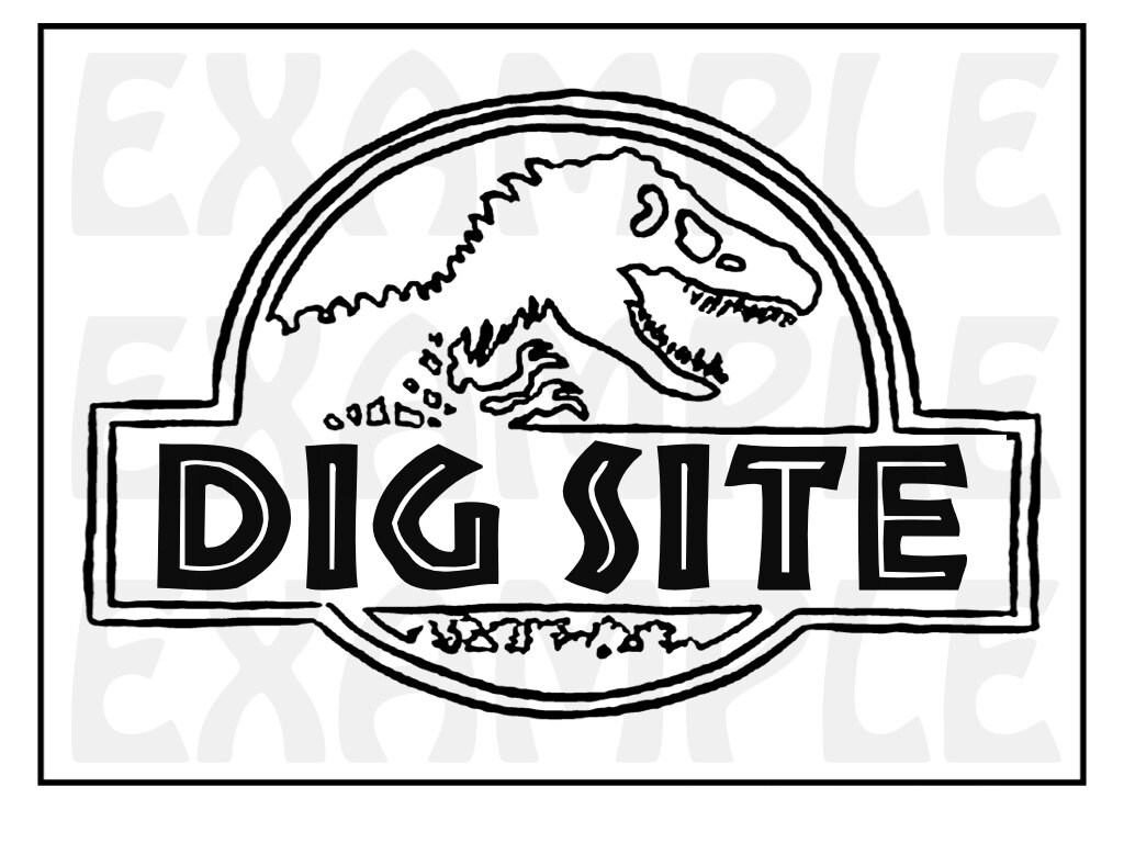 Dinosaur Dig Site Sign Themed Dinosaur Sign Party Zone