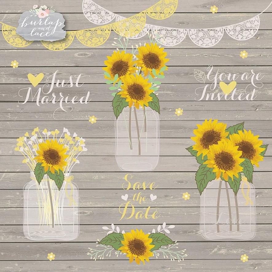 sunflowers clipart wedding mason