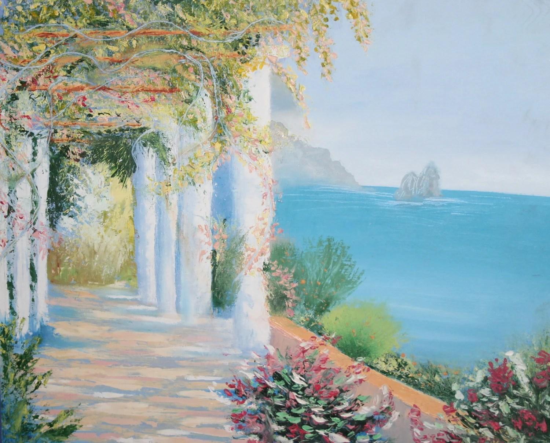 mini painting seascape landscape