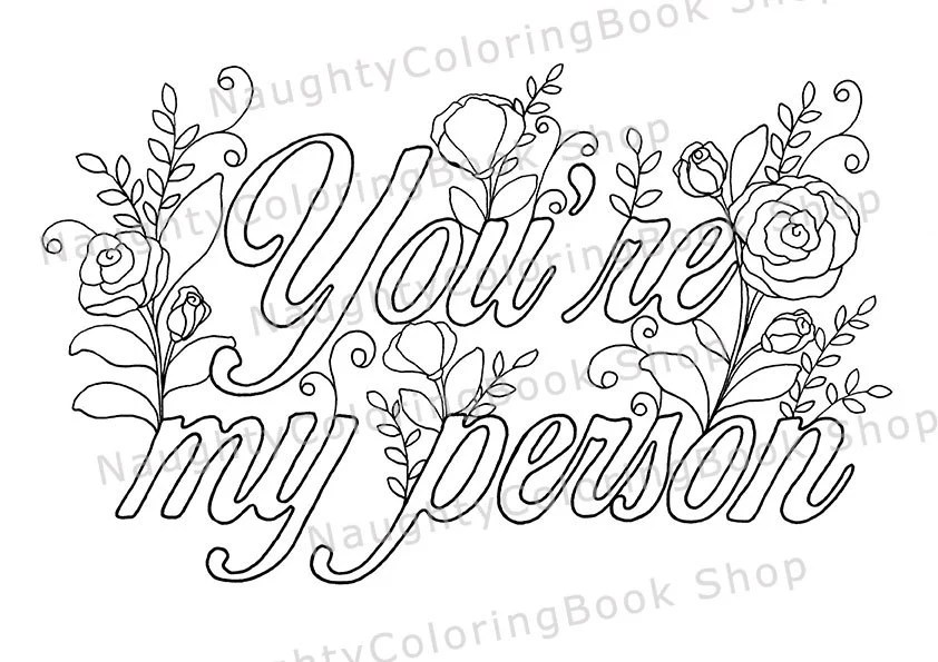 You're my person Best Friend Printable Gift Coloring